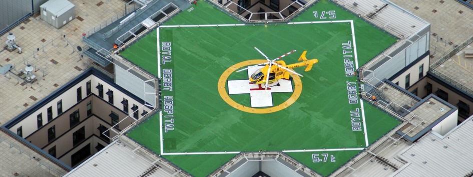 Helipad at Royal Derby Hospital