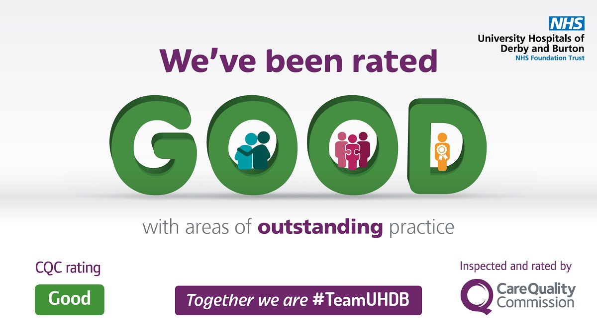 We've been rated as 'Good' by the CQC