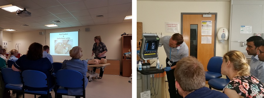 clinical skills and resus training sessions