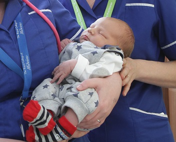 newborn baby at Queen's Hospital Burton